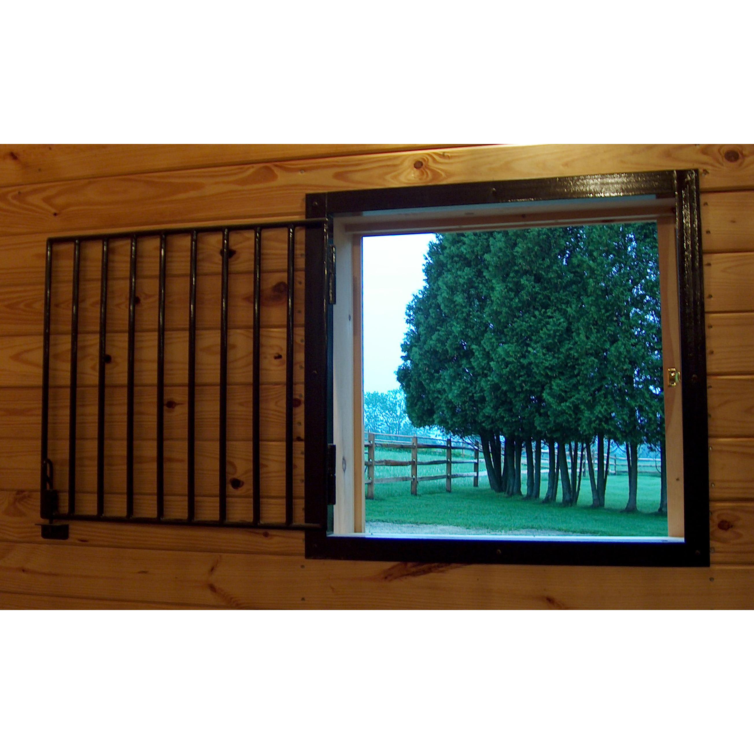 Attrayant Barn Components U003e Grills U003e Window U003e Interior Operable Window Grill With  Vertical Bars
